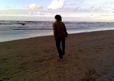 André op het strand - Else's fotos 055